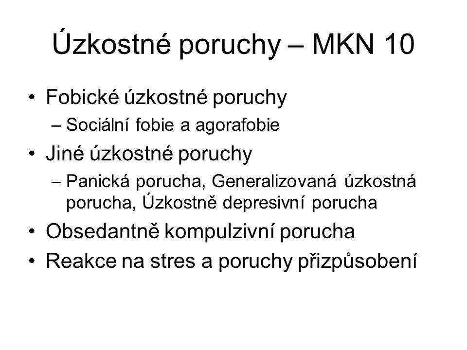 Fobické úzkostné poruchy I.
