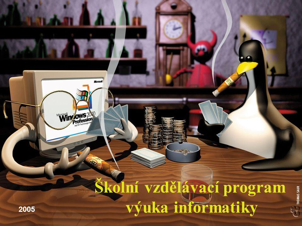 Školní vzdělávací program výuka informatiky 2005
