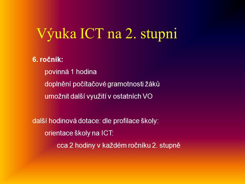 Výuka ICT na 2.stupni 6.