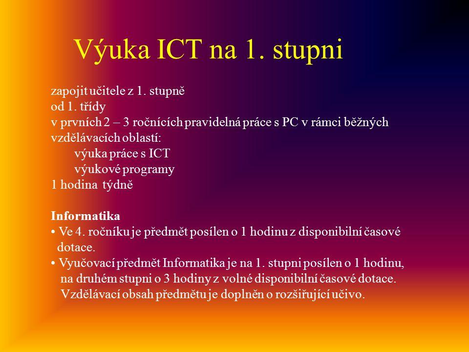 Výuka ICT na 1.stupni zapojit učitele z 1. stupně od 1.