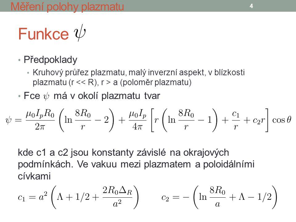 Funkce a poloidální pole 5 Měření polohy plazmatu