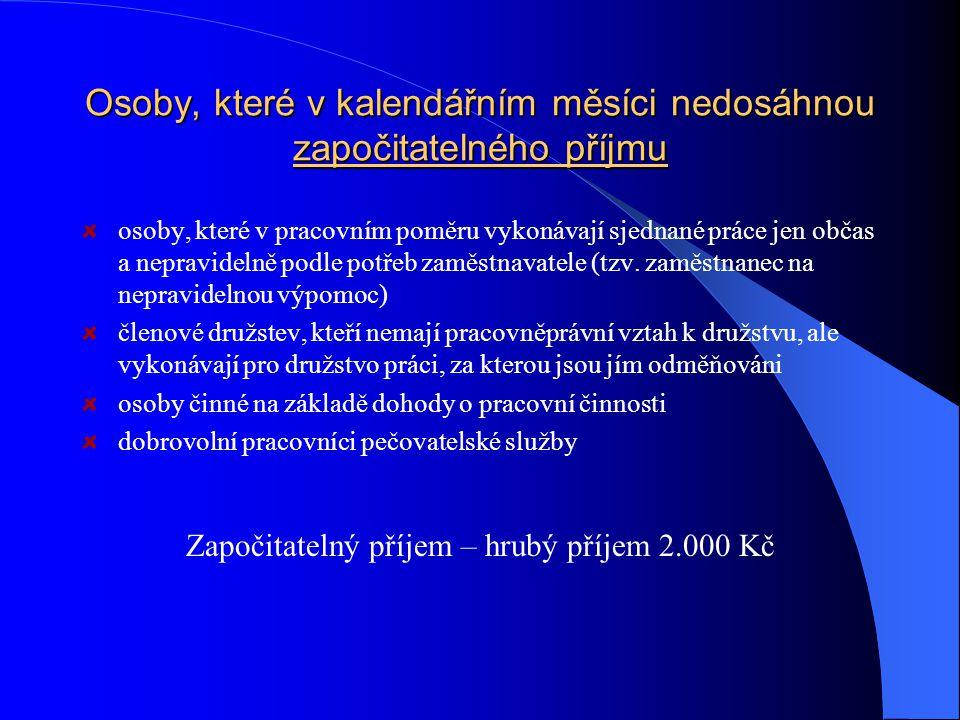 Pojistné na sociální pojištění Právní úprava: zákon č.