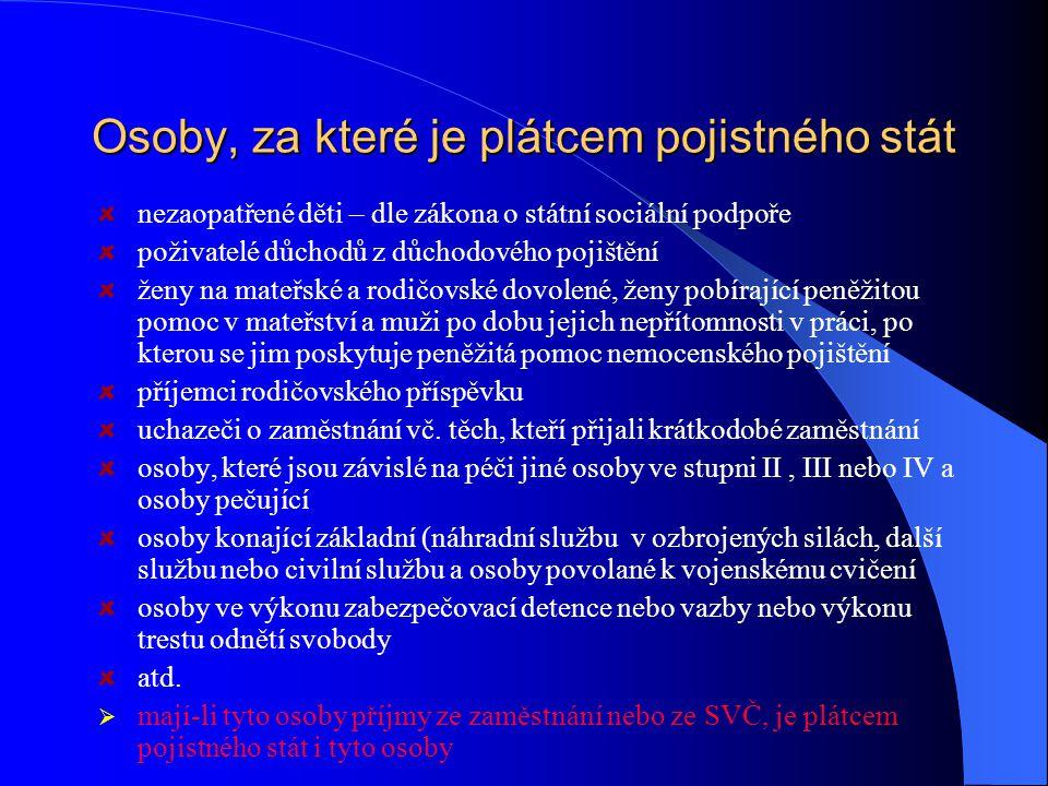 Poplatníci pojistného zaměstnavatelé (tj.
