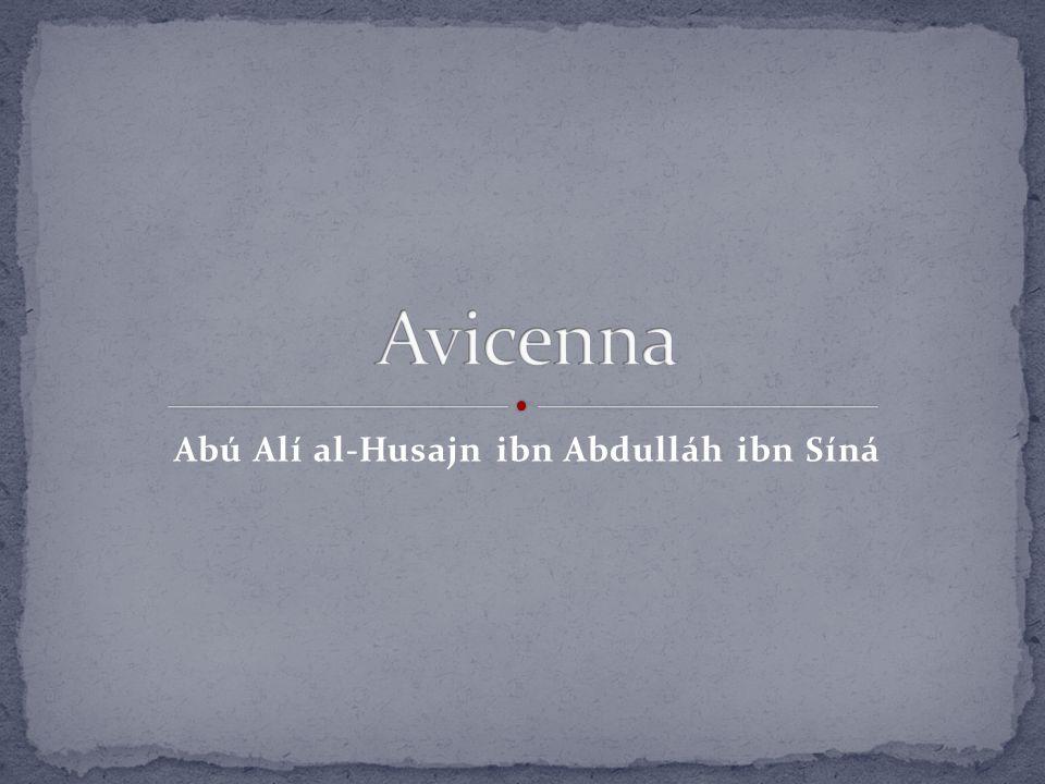 Abú Alí al-Husajn ibn Abdulláh ibn Síná