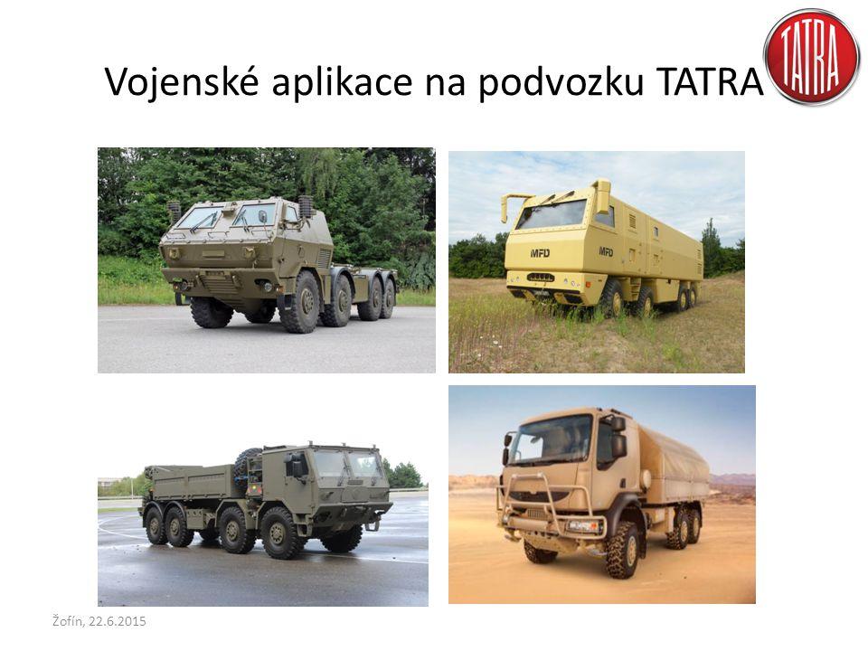 Vojenské aplikace na podvozku TATRA Žofín, 22.6.2015