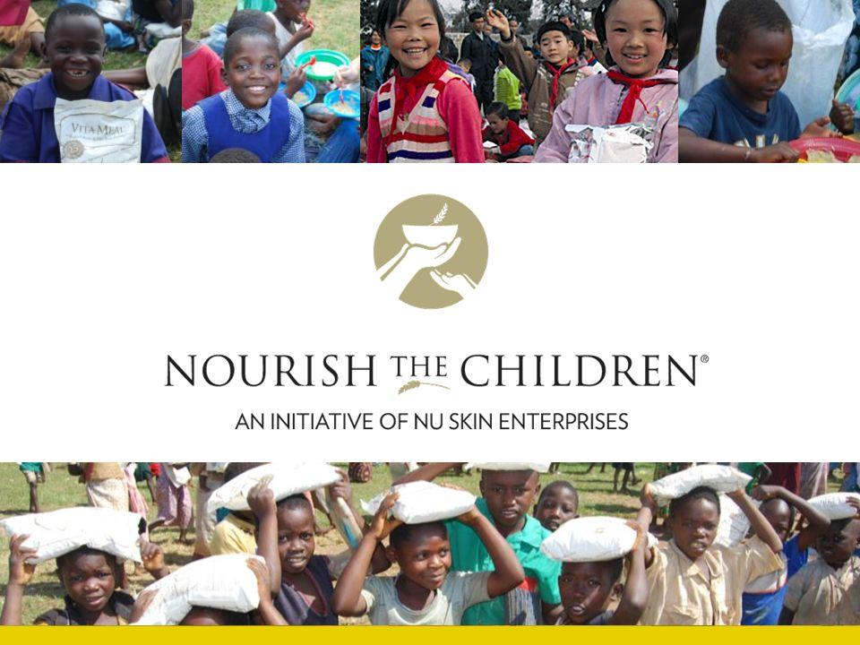 Naším posláním je být silou konající dobrou po celém světě dávajíce lidem příležitost ke zlepšení svých životů pomocí rentabilních obchodních možností, inovativních produktů a život obohacující a povznášející kultury. Iniciativa Nourish the Children ® (NTC) spojuje Nu Skin ® s rozsáhlou celosvětovou silou distributorů při výživě hladových dětí.