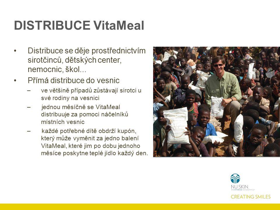 DISTRIBUCE VitaMeal Distribuce se děje prostřednictvím sirotčinců, dětských center, nemocnic, škol... Přímá distribuce do vesnic –ve většině případů z
