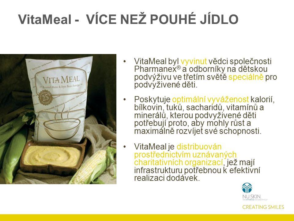 VitaMeal - VÍCE NEŽ POUHÉ JÍDLO VitaMeal byl vyvinut vědci společnosti Pharmanex ® a odborníky na dětskou podvýživu ve třetím světě speciálně pro podvyživené děti.