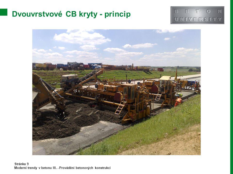 Dvouvrstvové CB kryty - princip Stránka 9 Moderní trendy v betonu III. - Provádění betonových konstrukcí