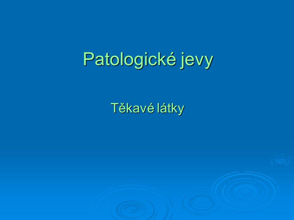 Patologické jevy Těkavé látky