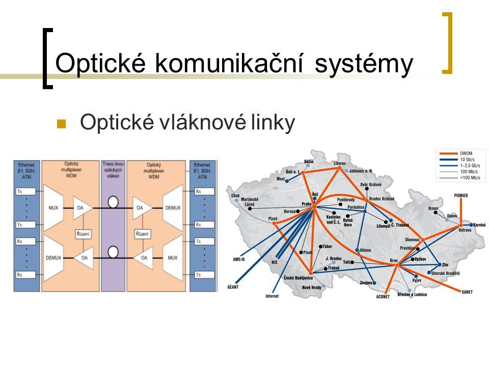Optické komunikační systémy Optické vláknové linky
