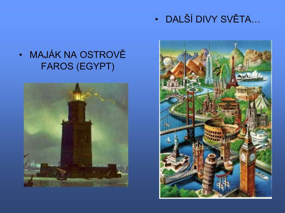 MAJÁK NA OSTROVĚ FAROS (EGYPT) DALŠÍ DIVY SVĚTA…