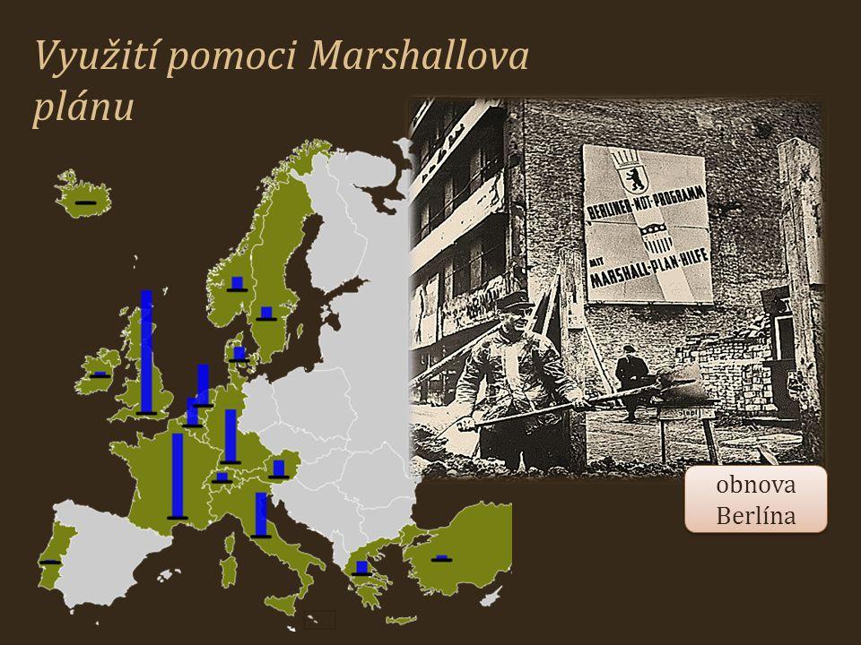 Využití pomoci Marshallova plánu obnova Berlína