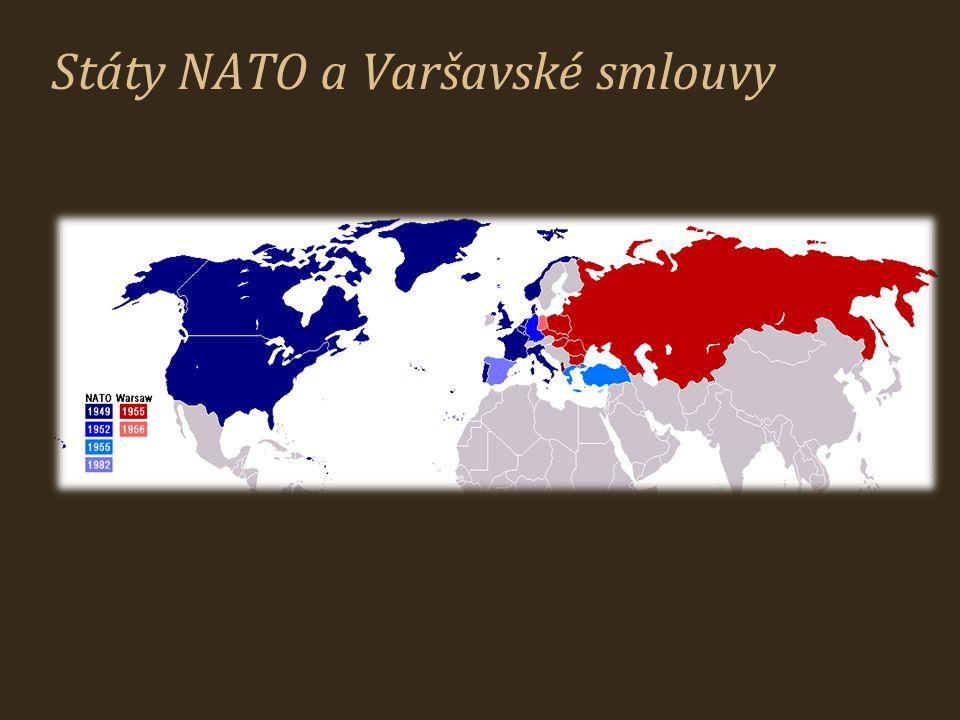Státy NATO a Varšavské smlouvy