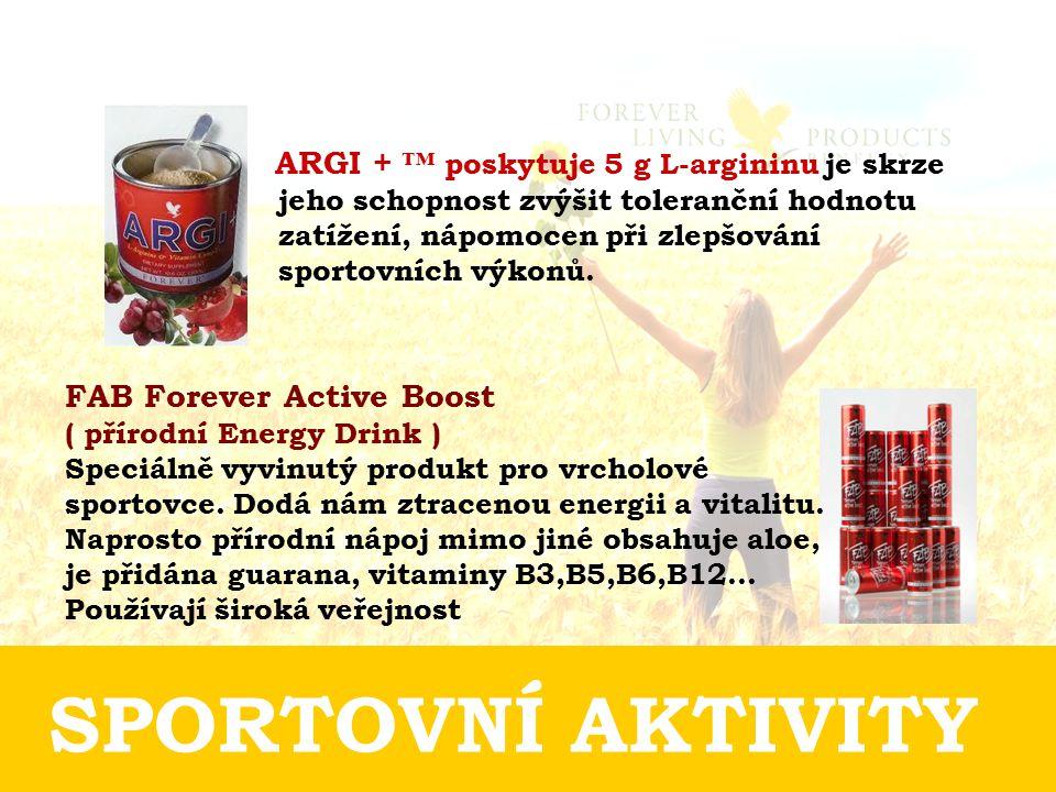 SPORTOVNÍ AKTIVITY ARGI + ™ poskytuje 5 g L-argininu je skrze jeho schopnost zvýšit toleranční hodnotu zatížení, nápomocen při zlepšování sportovních