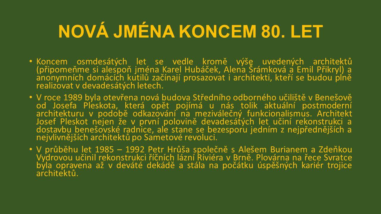 NOVÁ JMÉNA KONCEM 80.