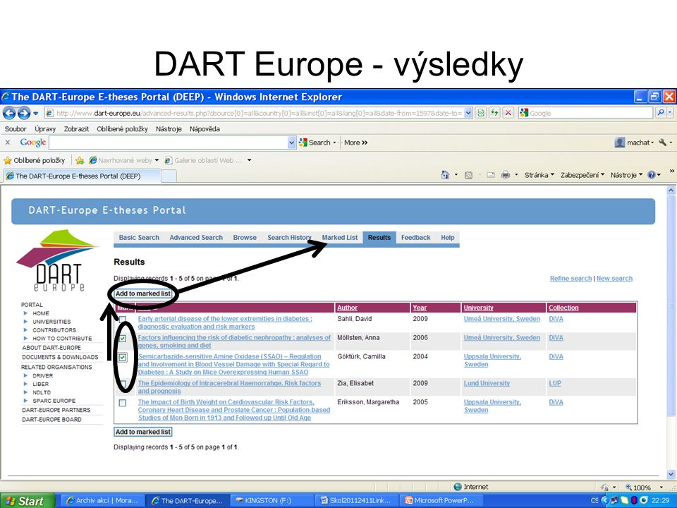 DART Europe - výsledky