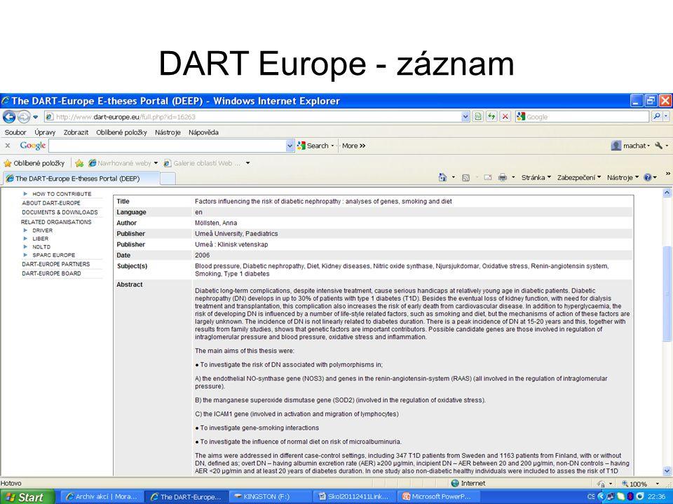DART Europe - záznam