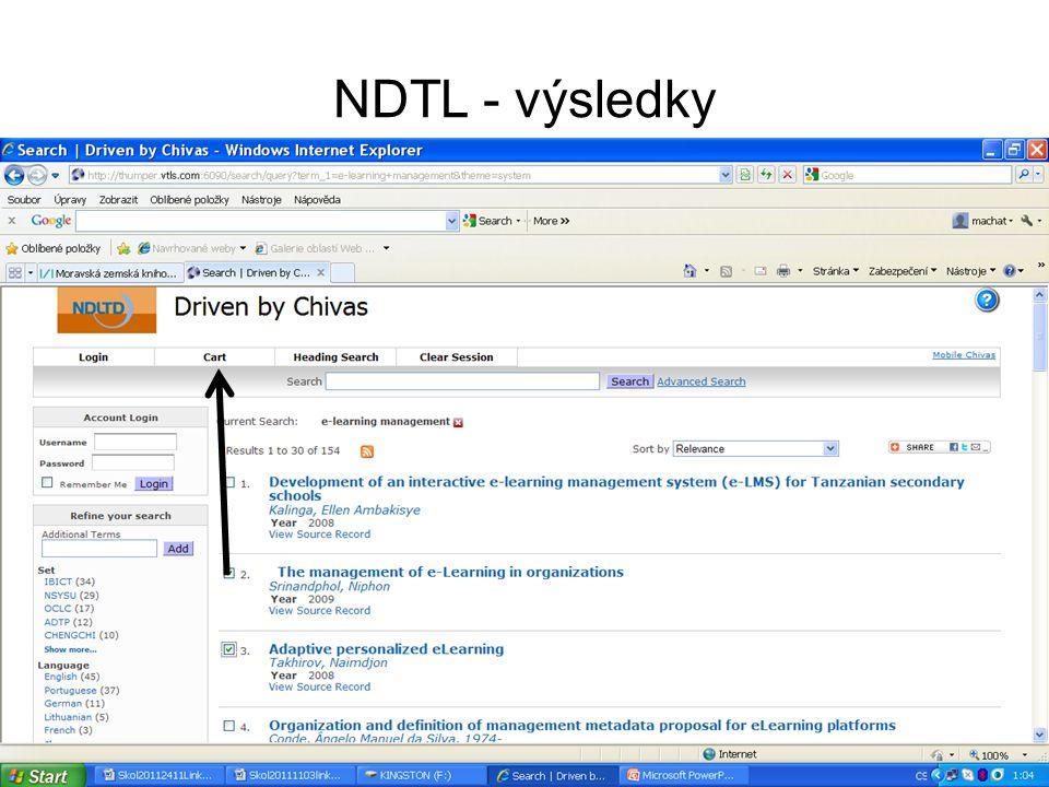 Driver – pokročilé vyhledávání