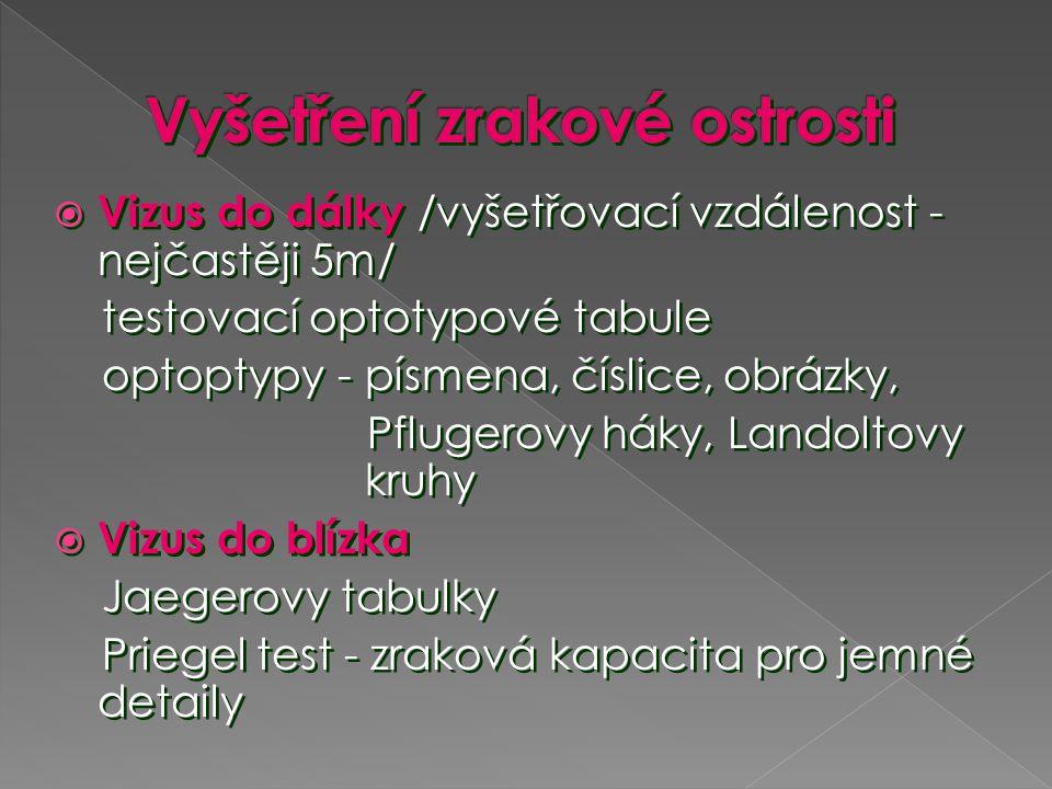  Axiální myopie - větší předozadní průměr oka  Kurvatorní myopie - zvýšené zakřivení rohovky nebo čočky (keratokonus, lenticonus anterior, posterior, zbobtnání čočky u hyperglykemie aj.)  Indexová myopie – počínající nukleární katarakta