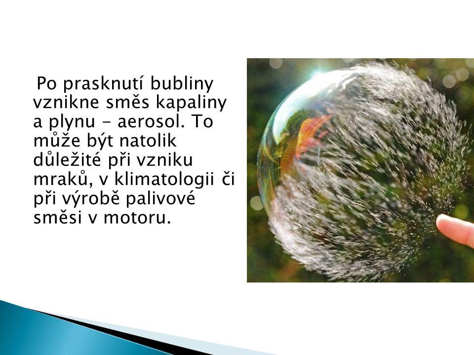 K pozorování praskání bubliny museli kvůli rychlosti celého procesu použít vysokorychlostní kameru.