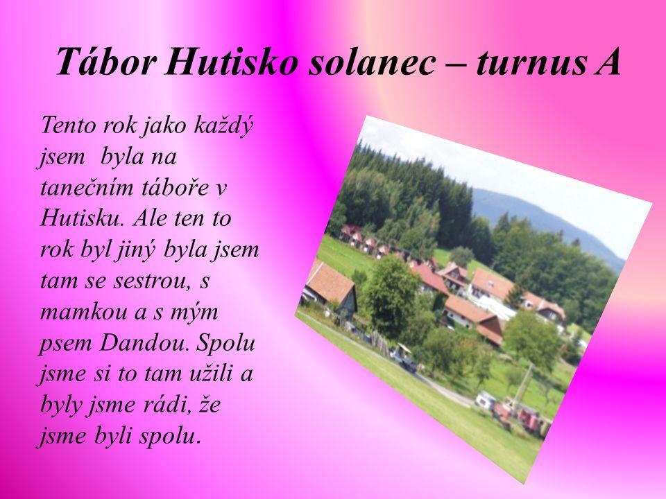 Tábor Hutisko solanec – turnus A Tento rok jako každý jsem byla na tanečním táboře v Hutisku.