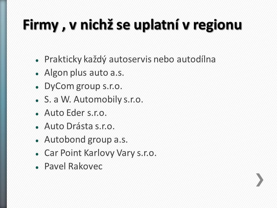 Prakticky každý autoservis nebo autodílna Algon plus auto a.s.