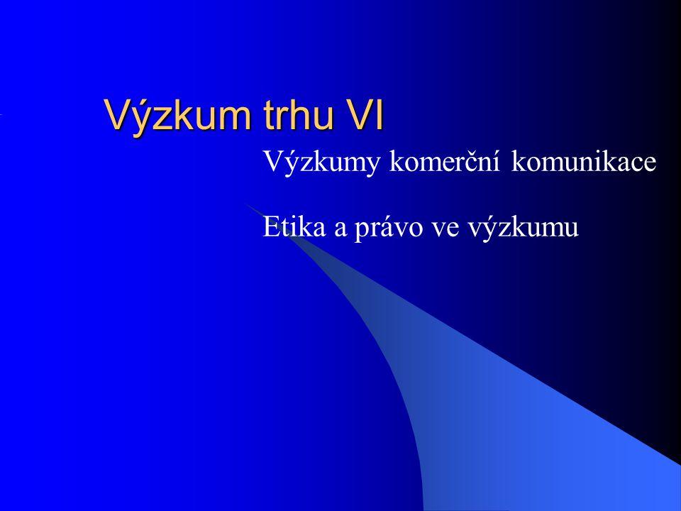 Etika na straně agentury, profesní sdružení Etické standardy zpravidla v rámci profesních sdružení ESOMAR-svět SIMAR-ČR Základní otázky: KDO.