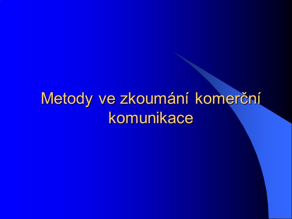 Metody ve zkoumání komerční komunikace