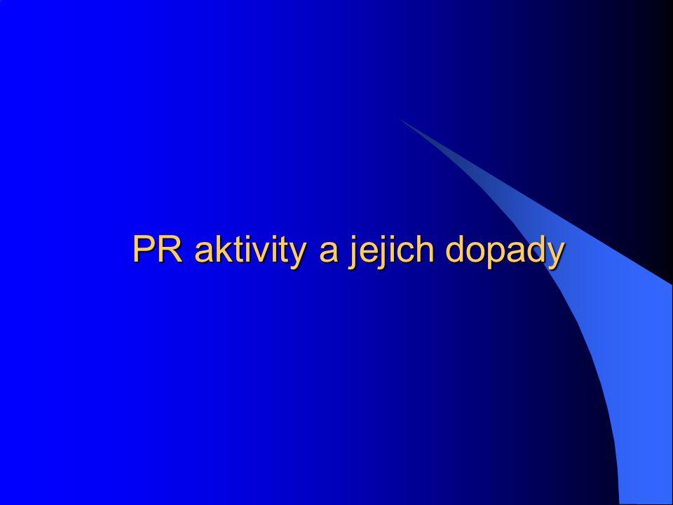 PR aktivity a jejich dopady