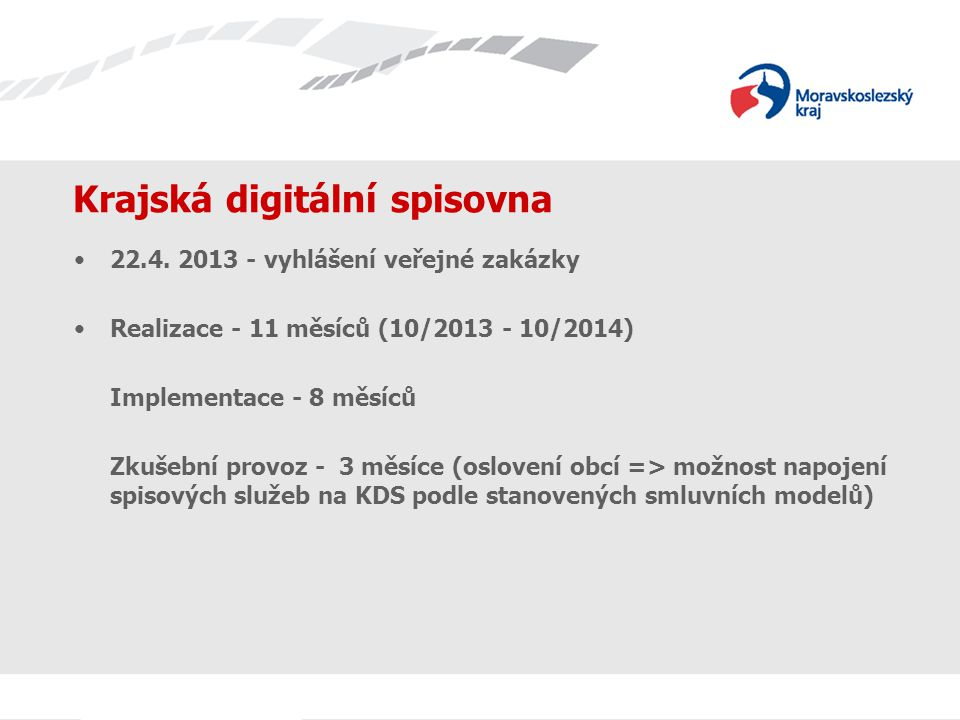 Krajská digitální spisovna 22.4.