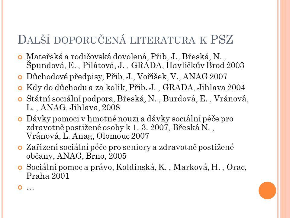 Nemocenské pojištění Zákon č.187/2006 Sb., o nemocenském pojištění, účinnost 1.