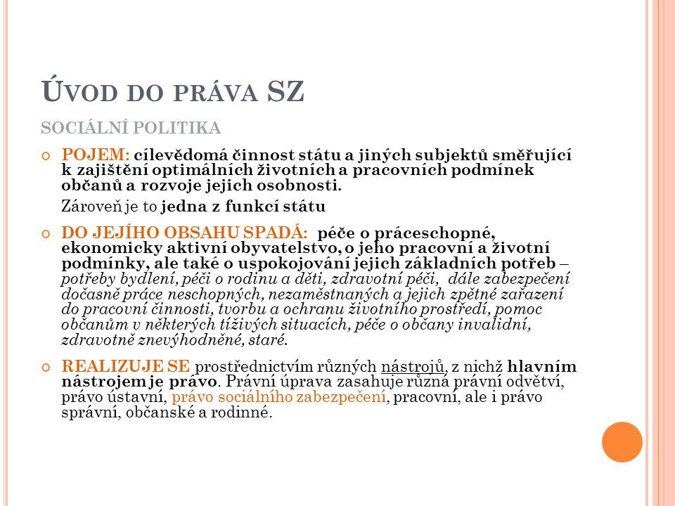 Důchodové pojištění zák.č.155/1995 Sb., o důchodovém pojištění, v platném znění zákon č.