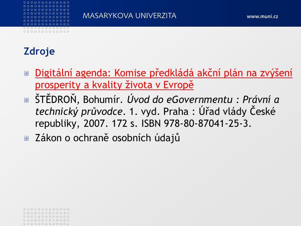 Zdroje Digitální agenda: Komise předkládá akční plán na zvýšení prosperity a kvality života v EvropěDigitální agenda: Komise předkládá akční plán na z