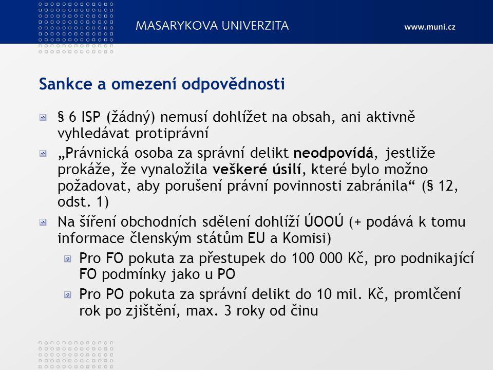 Změny v r.2011 Nutné dle regulačního rámce telekomunikací, vyžádáno EU (do 25.