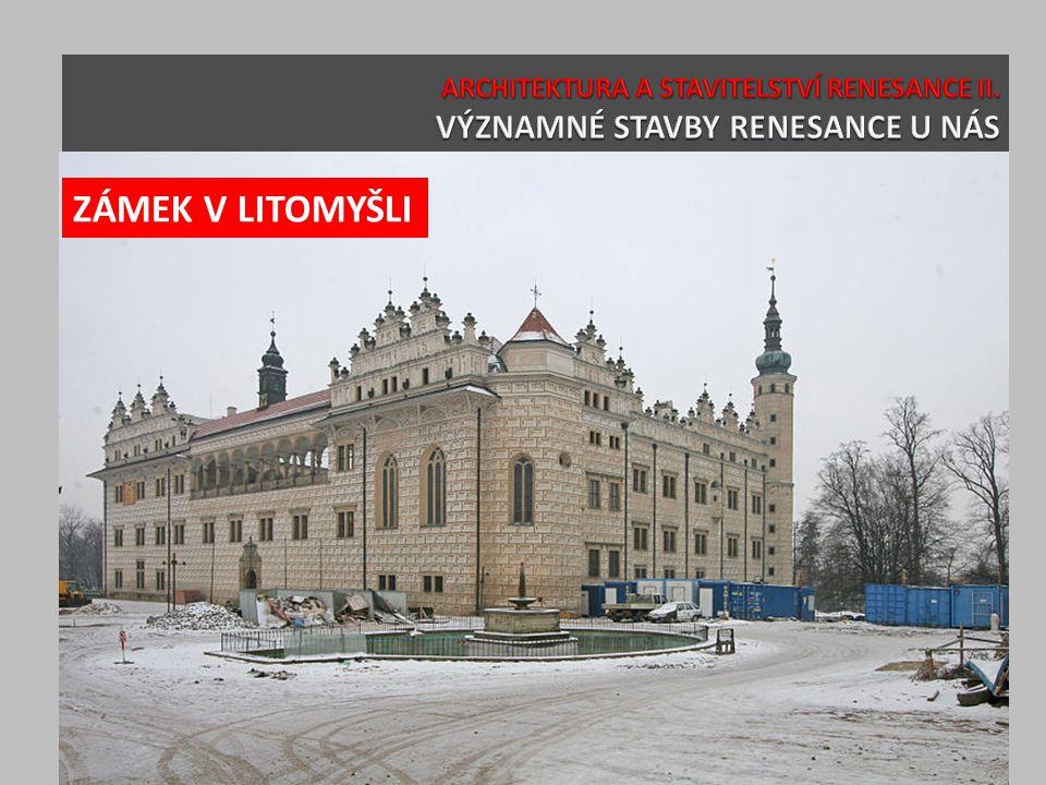 SAMOSTATNÝ ÚKOL Nakreslete si půdorys renesančního paláce nebo zámku.