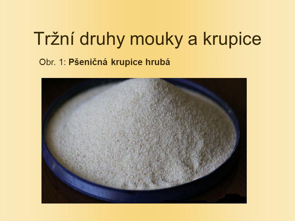 Tržní druhy mouky a krupice Obr. 1: Pšeničná krupice hrubá
