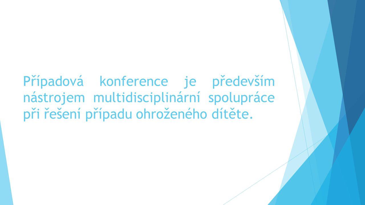 Případová konference je především nástrojem multidisciplinární spolupráce při řešení případu ohroženého dítěte.