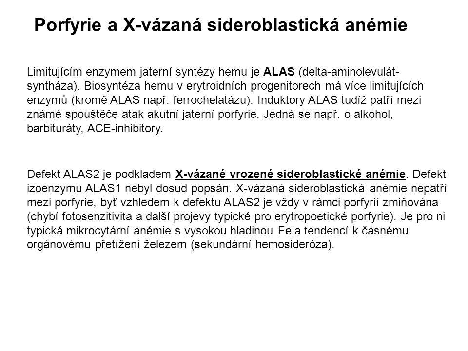 Defekt ALAS2 je podkladem X-vázané vrozené sideroblastické anémie. Defekt izoenzymu ALAS1 nebyl dosud popsán. X-vázaná sideroblastická anémie nepatří