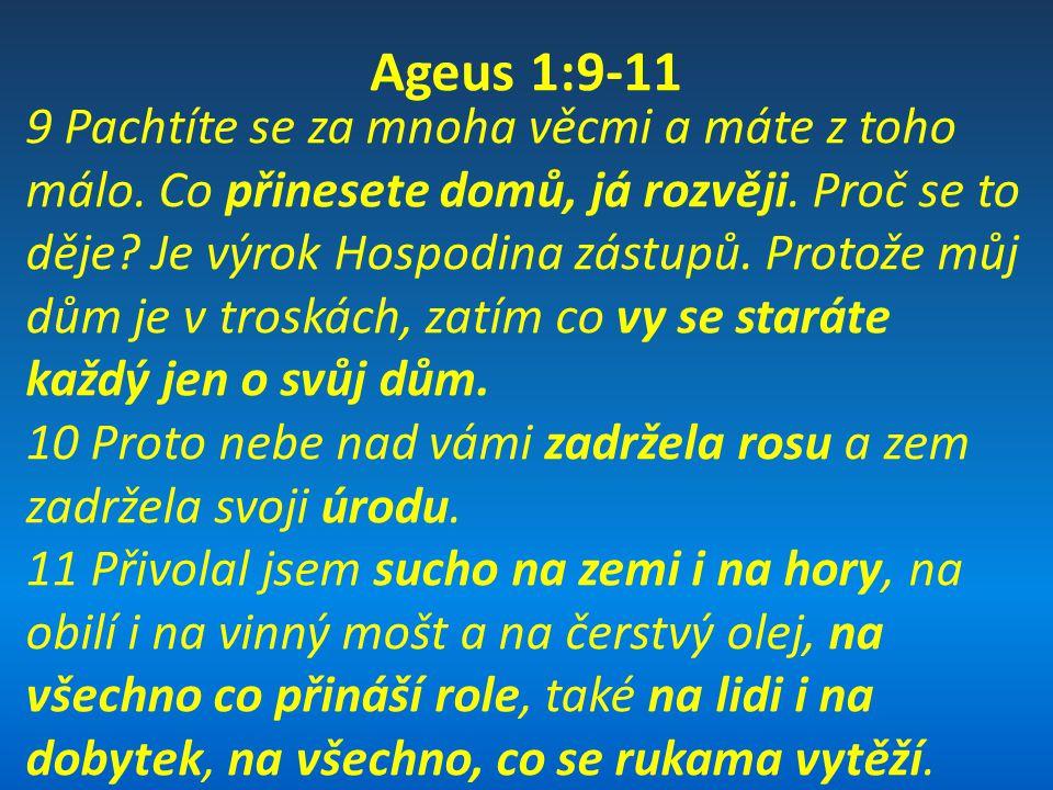 Ageus 1:6 6 Sejete mnoho a sklízí se málo.