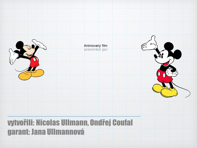 Ploškové filmy Jiný rozšířený způsob animace v ploše.