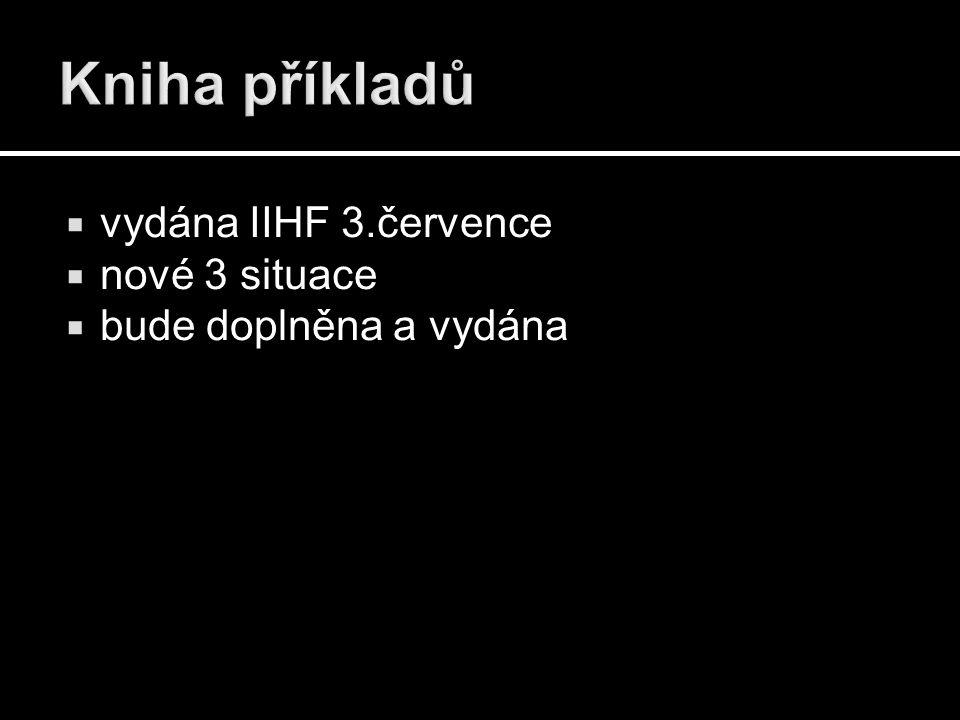  vydána IIHF 3.července  nové 3 situace  bude doplněna a vydána