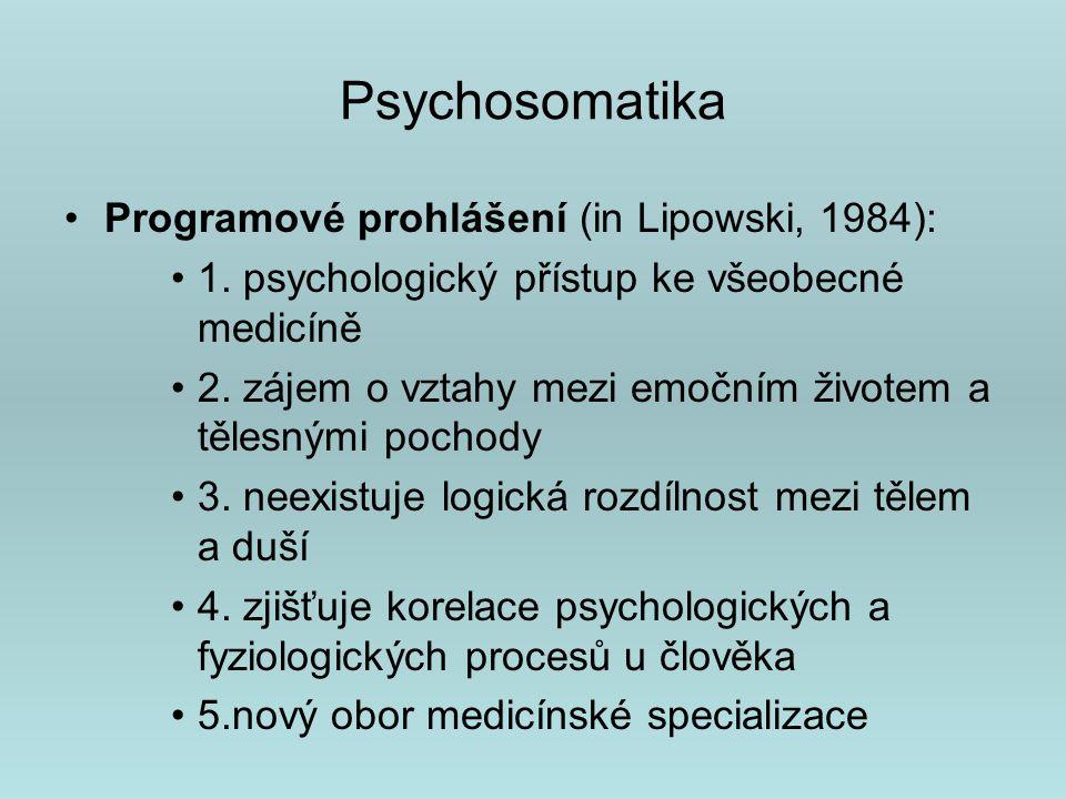 Modely psychosomatických onemocnění F.