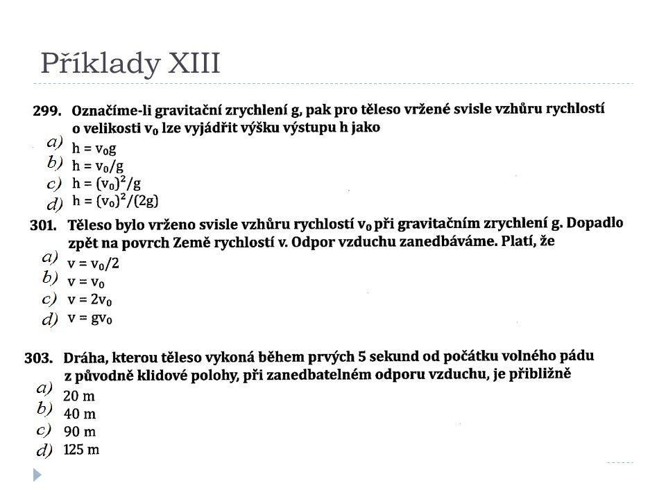 Příklady XIII