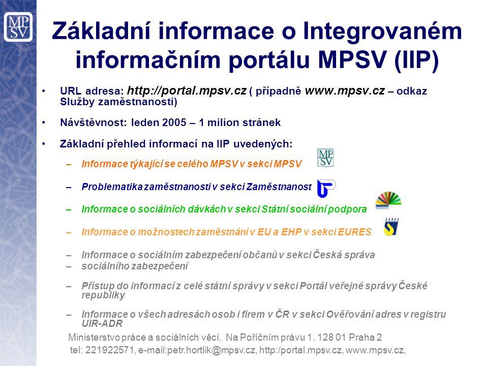 tel: 221922571, e-mail:petr.hortlik@mpsv.cz, http:/portal.mpsv.cz, www.mpsv.cz, Ministerstvo práce a sociálních věcí, Na Poříčním právu 1, 128 01 Prah