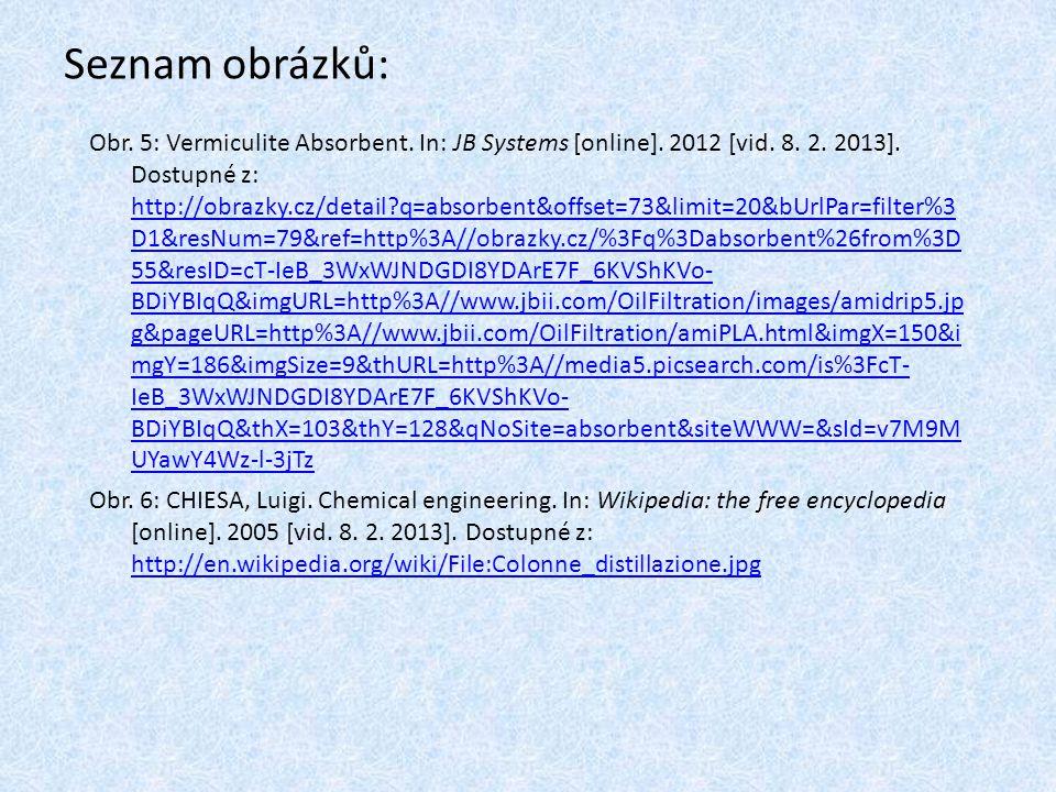 Seznam obrázků: Obr.5: Vermiculite Absorbent. In: JB Systems [online].