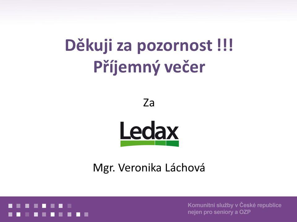 Děkuji za pozornost !!! Příjemný večer Za Mgr. Veronika Láchová