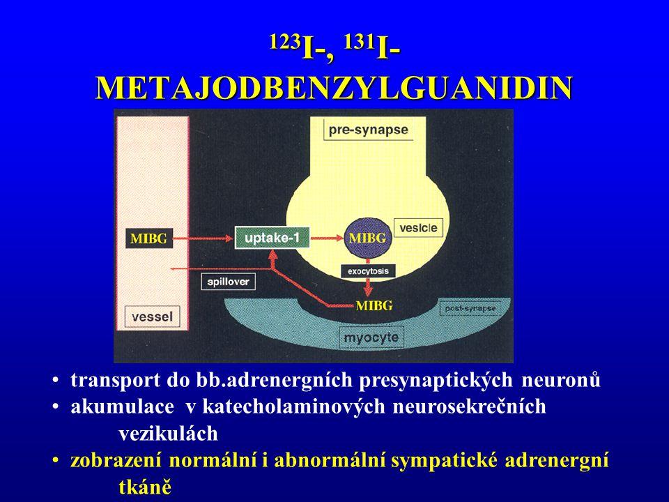 123 I-, 131 I- METAJODBENZYLGUANIDIN transport do bb.adrenergních presynaptických neuronů akumulace v katecholaminových neurosekrečních vezikulách zob