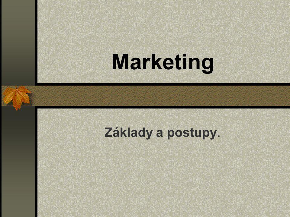 Marketing Základy a postupy.