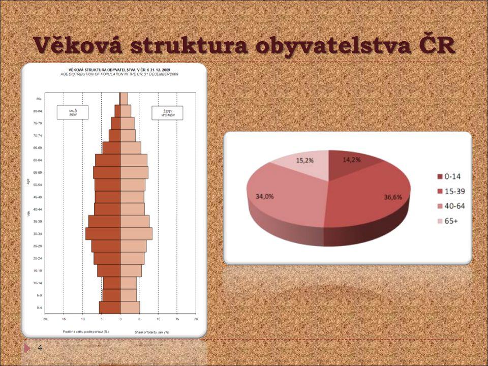 Věková struktura obyvatelstva ČR 4